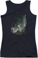 The Hobbit juniors tank top At Smaug's Door black