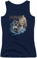 The Hobbit juniors tank top Barreling Down navy