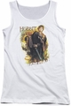 The Hobbit juniors tank top Bilbo white