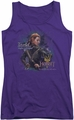 The Hobbit juniors tank top Daughter purple