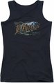 The Hobbit juniors tank top Greetings From Mirkwood black