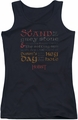 The Hobbit juniors tank top Keyhole black