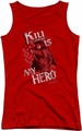 The Hobbit juniors tank top Kili Is My Hero red