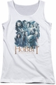 The Hobbit juniors tank top Main Characters white