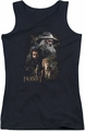 The Hobbit juniors tank top Painting black