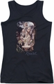 The Hobbit juniors tank top Rivendell black