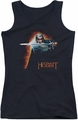 The Hobbit juniors tank top Secret Fire black