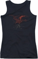 The Hobbit juniors tank top Smaug black