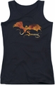 The Hobbit juniors tank top Smaug On Fire black