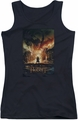 The Hobbit juniors tank top Smaug Poster black