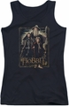 The Hobbit juniors tank top The Three black