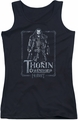 The Hobbit juniors tank top Thorin Stare black