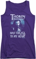 The Hobbit juniors tank top Thorins Key purple