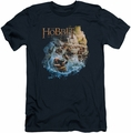 The Hobbit slim-fit t-shirt Barreling Down mens navy