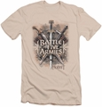 The Hobbit slim-fit t-shirt Battle Of Armies mens cream