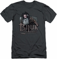 The Hobbit slim-fit t-shirt Bifur mens charcoal