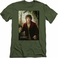 The Hobbit slim-fit t-shirt Bilbo Poster mens military green