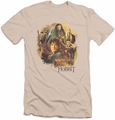 The Hobbit slim-fit t-shirt Collage mens cream/ivory