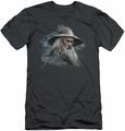 The Hobbit slim-fit t-shirt Gandalf The Grey mens charcoal