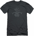 The Hobbit slim-fit t-shirt Golin King Symbol mens charcoal