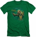 The Hobbit slim-fit t-shirt Greenleaf mens kelly green