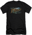 The Hobbit slim-fit t-shirt Greetings From Mirkwood mens black