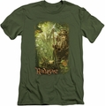The Hobbit slim-fit t-shirt In Radagast mens military green