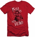 The Hobbit slim-fit t-shirt Kili Is My Hero mens red