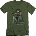 The Hobbit slim-fit t-shirt Kili mens military green
