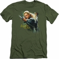 The Hobbit slim-fit t-shirt Legolas Greenleaf mens military green