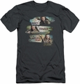 The Hobbit slim-fit t-shirt Loyalty And Honour mens charcoal