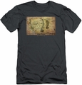 The Hobbit slim-fit t-shirt Middle Earth Map mens charcoal