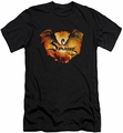 The Hobbit slim-fit t-shirt Reign In Flame mens black