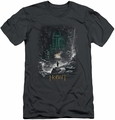 The Hobbit slim-fit t-shirt Second Thoughts mens charcoal
