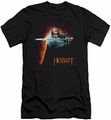 The Hobbit slim-fit t-shirt Secret Fire mens black