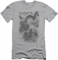 The Hobbit slim-fit t-shirt Sketches mens silver