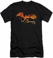 The Hobbit slim-fit t-shirt Smaug On Fire mens black