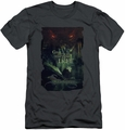 The Hobbit slim-fit t-shirt Taunt mens charcoal