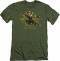 The Hobbit slim-fit t-shirt Tauriel mens military green