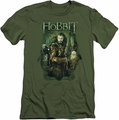 The Hobbit slim-fit t-shirt Thorin And Company mens military green