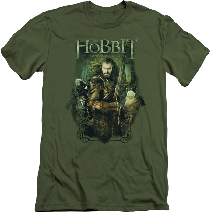 The Hobbit Slim Fit T Shirt Thorin And Company Mens