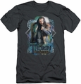 The Hobbit slim-fit t-shirt Thorin Oakenshield mens charcoal