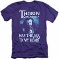 The Hobbit slim-fit t-shirt Thorins Key mens purple