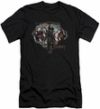 The Hobbit slim-fit t-shirt Three Dwarves mens black
