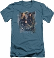 The Hobbit slim-fit t-shirt Three Dwarves mens slate