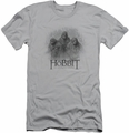 The Hobbit slim-fit t-shirt Three Trolls mens silver