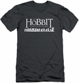 The Hobbit slim-fit t-shirt Walking Logo mens charcoal