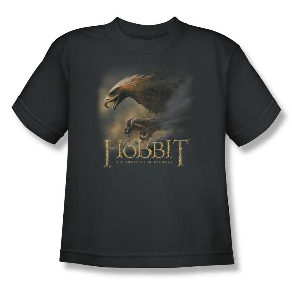 The hobbit great eagle charcoal youth teen t shirt The great t shirt