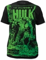 The Incredible Hulk big print subway t-shirt monster unleashed mens black pre-order