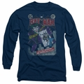 The Joker adult long-sleeved shirt #251 Distressed navy